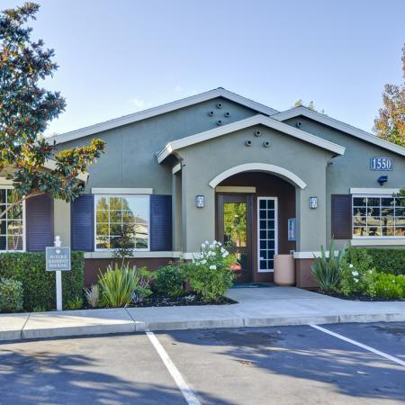 Leasing office at Bristol Apartment Homes, 1550 Valley Glen Drive, Dixon, CA
