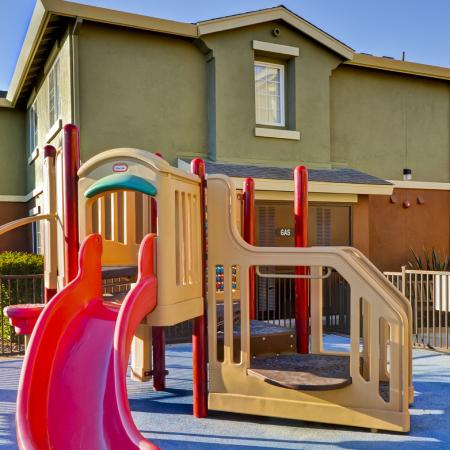 Tot lot at Bristol Apartment Homes, 1550 Valley Glen Drive, Dixon, CA