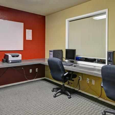 Business center at Turnleaf Apartments in San Jose, CA.