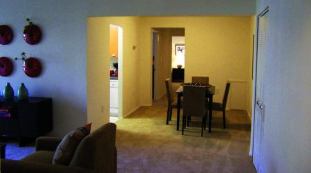 Dining room at Oakfield Apartment Homes, 2335 Broad St, Durham, NC