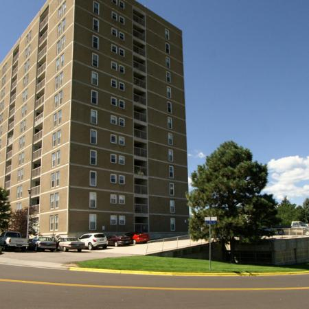High rise living at Ridgemoor Apartment Homes in Lakewood, CO