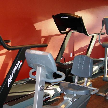 Fitness center at Ridgemoor Apartment Homes in Lakewood, CO