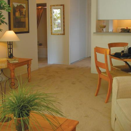 Living room at Ridgemoor Apartment Homes in Lakewood, CO