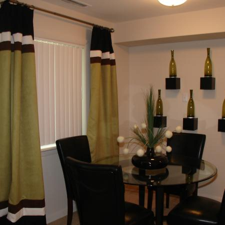 Dining area at University Heights Apartments in Providence, RI