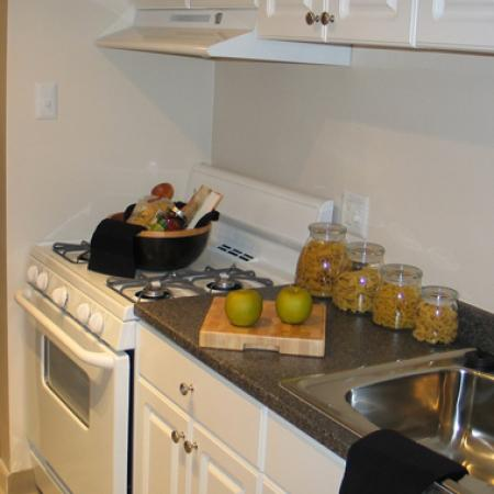 Renovated kitchens in University Heights Apartments in Providence, RI