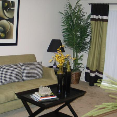 Living room at University Heights Apartments in Providence, RI