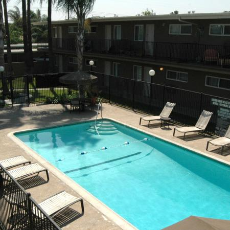 Swimming pool at Walden Glen Apartments in Buena Park, CA