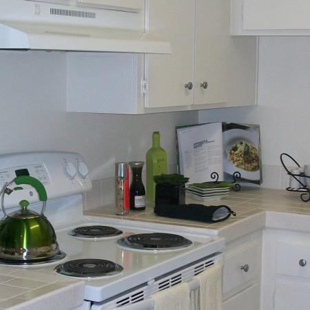Kitchen at The Stratton Apartments in San Diego, CA.