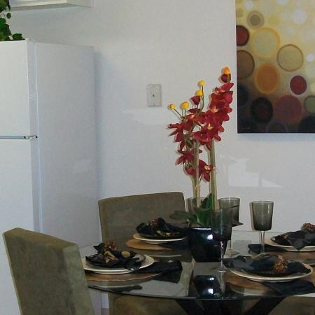 Dining room at The Stratton Apartments in San Diego, CA.