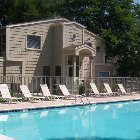 Pool at Timberleaf Apartments in Lakewood, CO