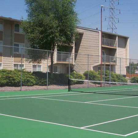 Tennis court at Timberleaf Apartments in Lakewood, CO