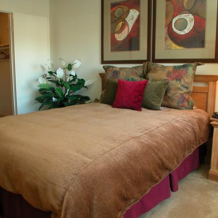 Bedroom at Timberleaf Apartments in Lakewood, CO