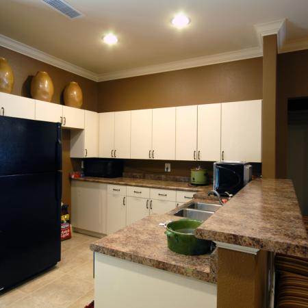 Community center kitchen at The Barrington Apartments in Silver Spring, MD