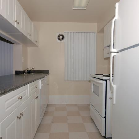 Kitchen at The Barrington Apartments in Silver Spring, MD