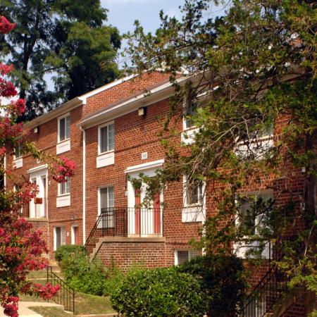 Exterior of The Barrington Apartments in Silver Spring, MD
