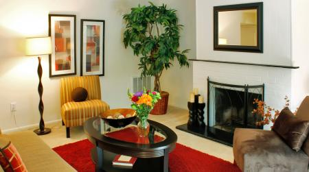 Living room at Ramblewood Village Apartments in Mount Laurel, NJ