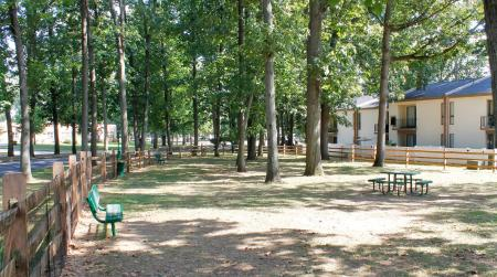 Dog park at Ramblewood Village Apartments in Mount Laurel, NJ