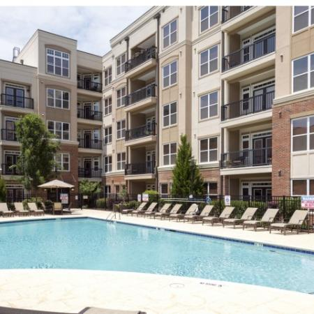 Pool at Apartments at Arboretum in Cary, NC