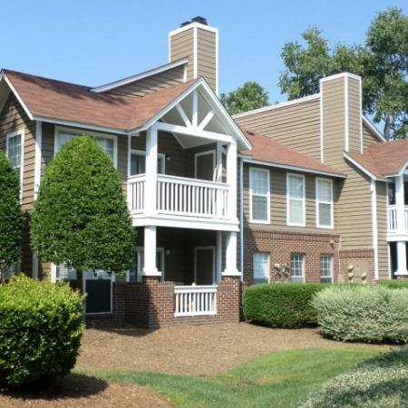 Freshly painted exteriors at Reafield Village Apartments in Charlotte, NC.