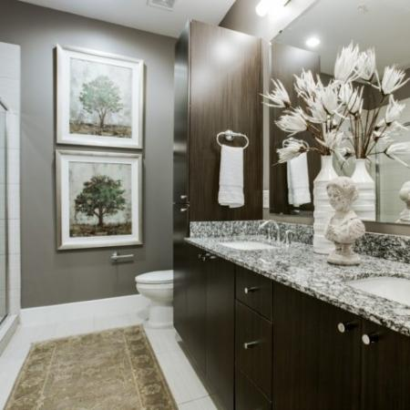 Bathroom at Cantabria at Turtle Creek in Dallas, TX