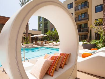 Splash pool at Terrena Apartment Homes in Northridge, CA