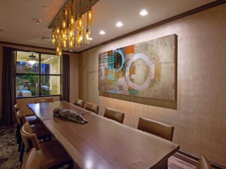 Conference and dining room at Terrena Apartment Homes in Northridge, CA