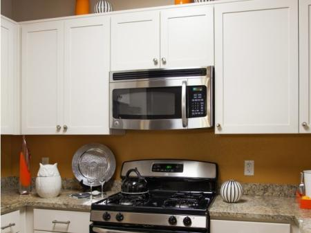 Stainless steel appliances at Terrena Apartment Homes in Northridge, CA