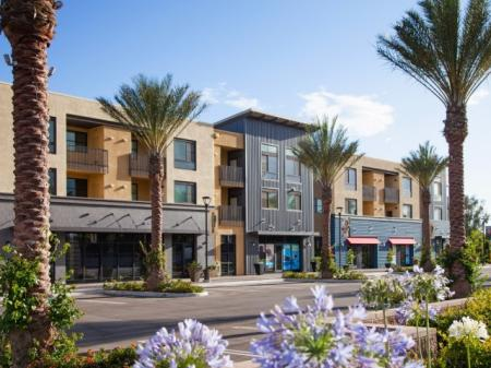 Collection onsite retail at Terrena Apartment Homes in Northridge, CA