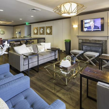 Resident lounge at The Harlowe Apartments in Arlington, VA