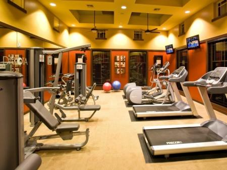 Fitness center at Dakota Apartments in Winchester, CA
