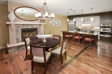 Natural wood flooring and gourmet kitchens at 597 Westport Apartments in Norwalk, CT