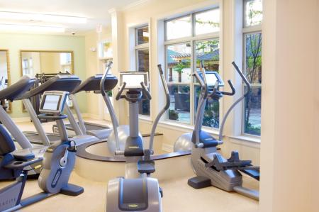 Fitness center at 597 Westport Aparments in Norwalk, CT