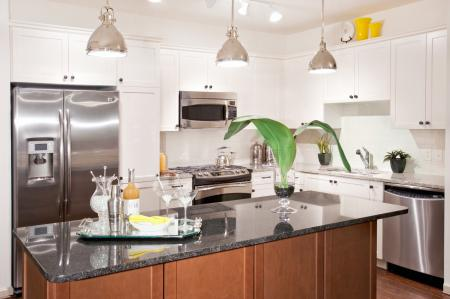 Spacious gourmet kitchens at 597 Westport Aparments in Norwalk, CT