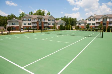 Tennis courts at River Forest Apartments in Chester, VA