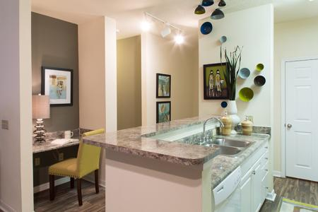Open Kitchen at Arbor Walk Apartments in Tampa, Florida