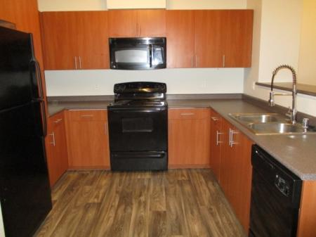Updated kitchen at Sanctuary Apartments in Renton WA