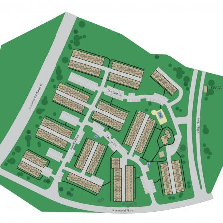 Site map at Williamsburg TownhomesWilliamsburg Townhomes Rental Homes in Sagamore Hills, OH