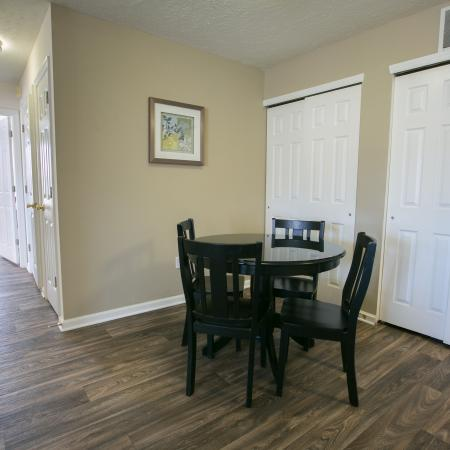Separate dining area at The Village of Western Reserve Apartments in Streetsboro, OH