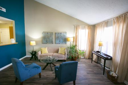 Spacious living spaces at The Village of Western Reserve Apartments in Streetsboro, OH