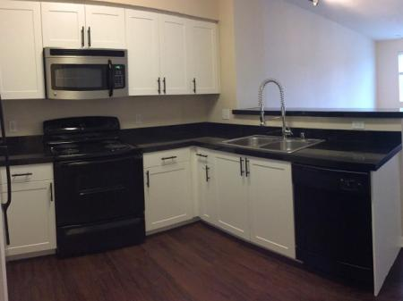 Renovated kitchen at Reserve Apartments in Renton WA