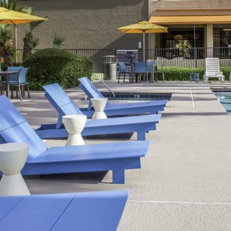 New Pool Furniture at Helix Apartments in Las Vegas NV