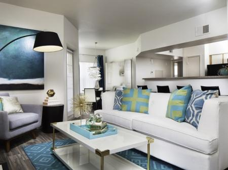 Living room at Helix Apartments in Las Vegas NV