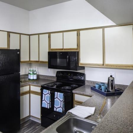 Kitchen at Helix Apartments in Las Vegas NV