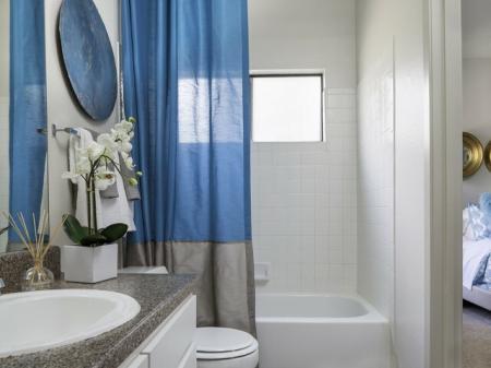 Bathroom at Helix Apartments in Las Vegas NV