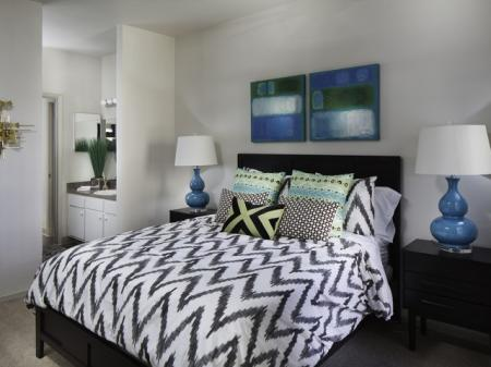 Master bedroom at Helix Apartments in Las Vegas NV