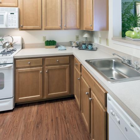Kitchen at Riverside Station Apartments in Woodbridge, VA