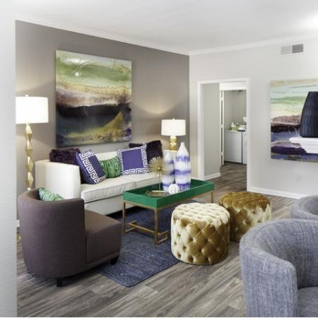 Spacious living spaces at The Brixton Apartments in Dallas, TX