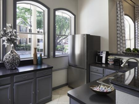 New Clubhouse Kitchen at The Brixton Apartments in Dallas, TX