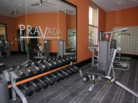 Fitness Center at Pravada at Grossmont Trolley Apartments in La Mesa CA
