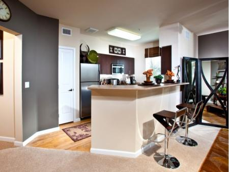 Kitchen at Alterra at Grossmont Trolley Apartments in La Mesa, CA